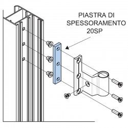 20SP.4,5 - Shim for H2S hinges - 4,5 mm